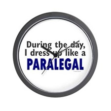 Dress Up Like A Paralegal Wall Clock
