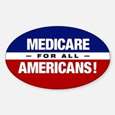 Medicare For All Americans Sticker (oval)
