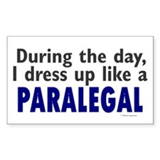 Dress Up Like A Paralegal Rectangle Decal