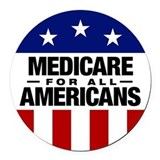 Medicare Round Car Magnets