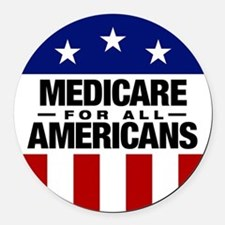 Medicare For All Americans Round Car Magnet