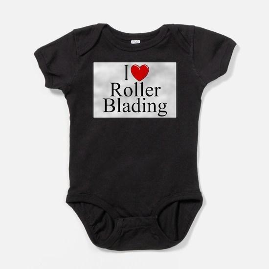 Cute Roller blades Baby Bodysuit