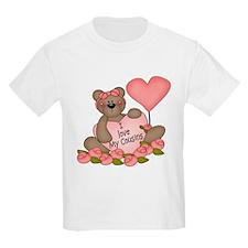 I LOVE My Cousins CUTE Bear T-Shirt