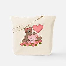 I LOVE My Cousin CUTE Bear Tote Bag