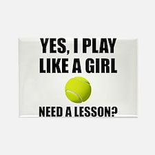 Like A Girl Tennis Magnets