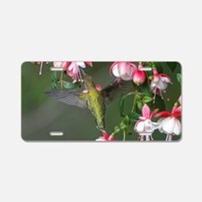 Hummingbird Aluminum License Plate