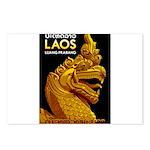 Laos Vintage Travel Print Postcards (Package of 8)