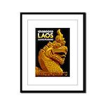 Laos Vintage Travel Print Framed Panel Print