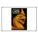 Laos Vintage Travel Print Banner