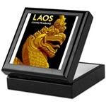 Laos Vintage Travel Print Keepsake Box