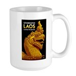 Laos Vintage Travel Print Mugs