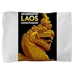Laos Vintage Travel Print Pillow Sham