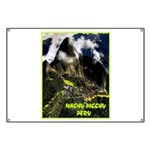 Machu Picchu Vintage Travel Advertising Print Bann