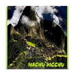 Machu Picchu Vintage Travel Advertising Print Tile