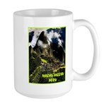 Machu Picchu Vintage Travel Advertising Print Mugs