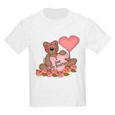 I LOVE My Brother CUTE Bear T-Shirt
