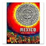 Mexico Vintage Travel Advertising Print Square Car