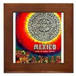 Mexico Vintage Travel Advertising Print Framed Til