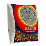 Mexico Vintage Travel Advertising Print Burlap Thr