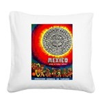 Mexico Vintage Travel Advertising Print Square Can