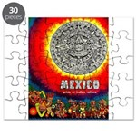 Mexico Vintage Travel Advertising Print Puzzle
