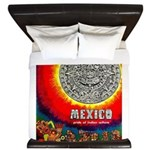 Mexico Vintage Travel Advertising Print King Duvet