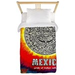 Mexico Vintage Travel Advertising Print Twin Duvet