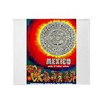 Mexico Vintage Travel Advertising Print Throw Blan