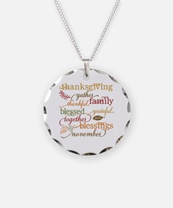Cute Happy thanksgiving Necklace