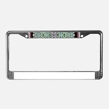 Metallic Celtic Knot License Plate Frame