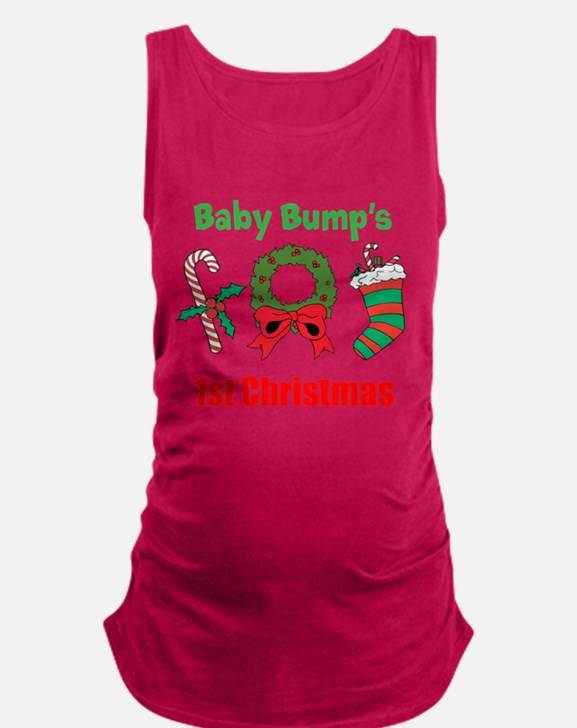 Baby Bump's 1st Christmas Maternity Tank Top