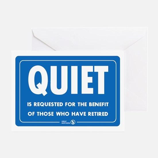 Quiet! Greeting Card