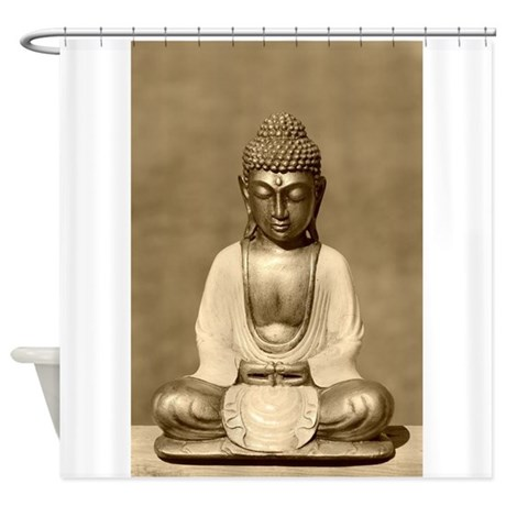 Meditating Buddha Shower Curtain