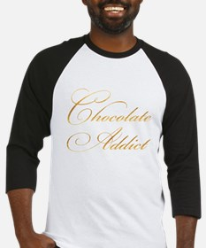 Chocolate Addict Gold Faux Foil Me Baseball Jersey