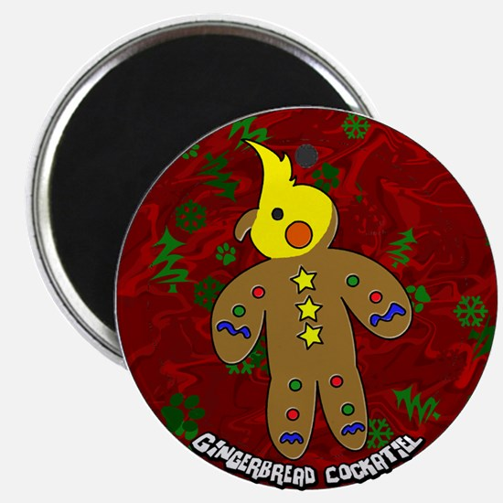 Gingerbread Cockatiel Christmas Magnet