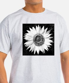 Funny Black and white sunflowers T-Shirt