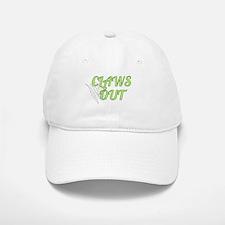 CLAWS OUT (green) Baseball Baseball Cap