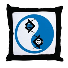Masonic Yin Yang Throw Pillow