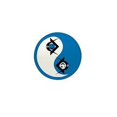 Masonic Yin Yang Mini Button (10 pack)
