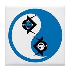 Masonic Yin Yang Tile Coaster