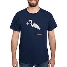 Egret holding snowflake T-Shirt