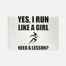 Like A Girl Running Magnets