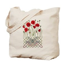 Celtic Poppies Tote Bag