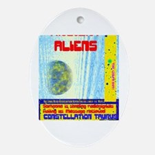 Cute Ancient aliens Oval Ornament