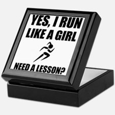 Like A Girl Running Keepsake Box