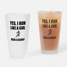 Like A Girl Running Drinking Glass