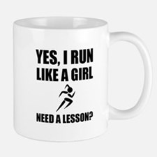 Like A Girl Running Mugs