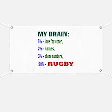 My Brain, 90% Rugby . Banner