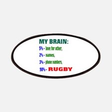My Brain, 90% Rugby . Patch