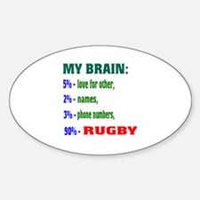 My Brain, 90% Rugby . Decal